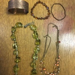 Jewelry - Green and Copper Jewelry Set (5 piece)